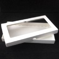 DL White Greeting Card Boxes With Aperture Lid